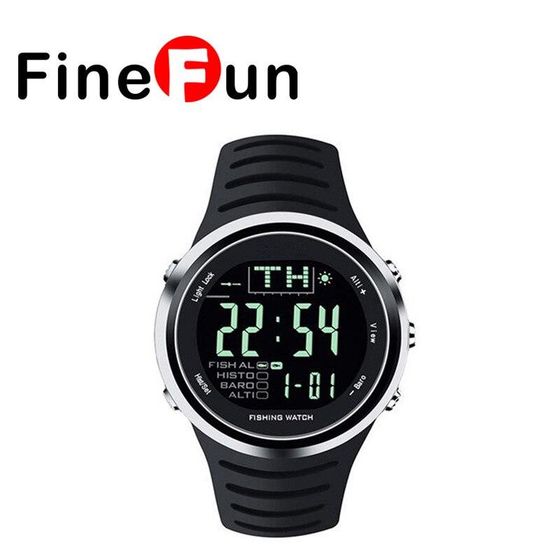 FineFun Sports Smart Watch FW01 Fishing Watch Altimeter Barometer Thermometer LED Display Waterproof Wristwatches Free Shipping