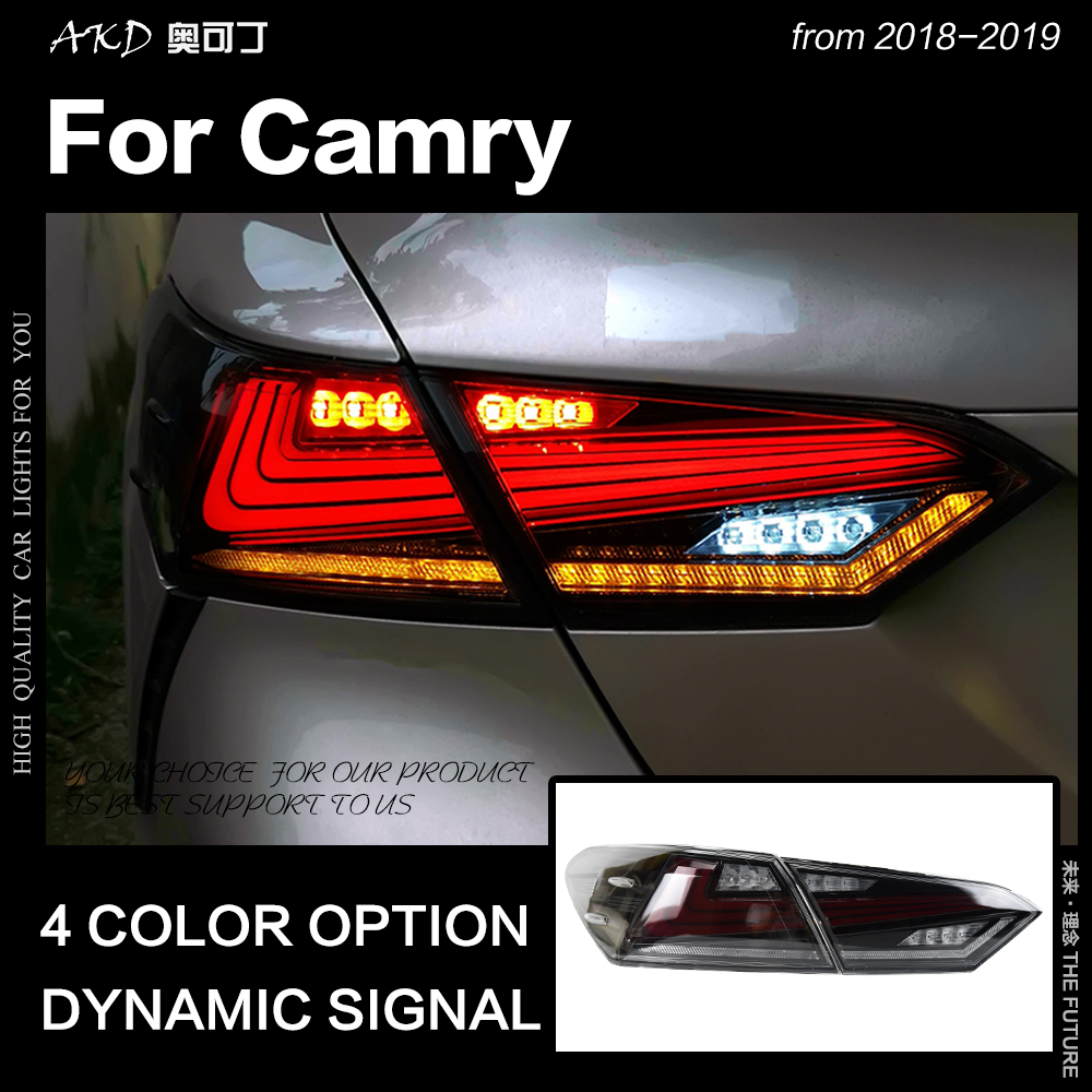 Car Styling for Toyota Camry Tail Light 2018 New Camry XV60 LED Tail Lamp LED Stop