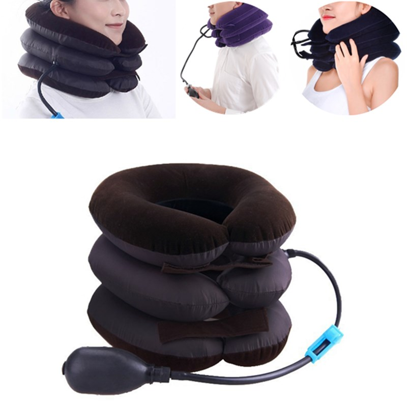 Household Inflatable Cervical Vertebra Retractor Neck Relief Support Tractor Treatment For Muscle Strain Neck Tractor Massage(China)