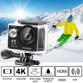 AKASO 4K Macchina Fotografica di Azione di EK7000 WIFI Esterna Video Estremo Sport hemet Ultra HD Impermeabile 12MP Diving cam subacquea