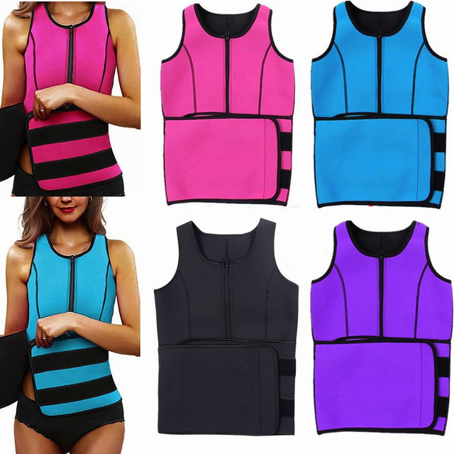 Slimming Sweat Waist Trainer Body Shaper Fashion Workout Shapewear Adjustable Sweat Belt Corset Neoprene Sport Sweat Vest
