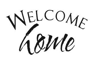 Wall Sticker Welcome Home lettering vinyl decal sticker