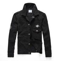 В европейском и американском стиле Для мужчин S Куртки классический Стиль Молодежная Streetwear джинсовая куртка Для мужчин пальто черный Цвет Б...