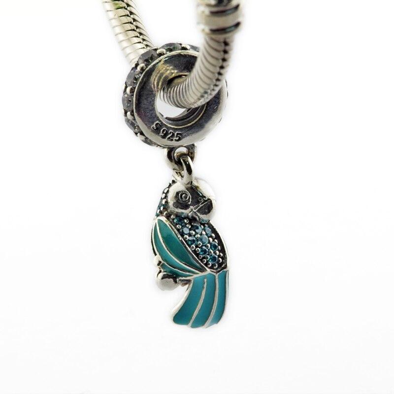 bf0bcbe893 Serve para Pandora Pulseiras Tropical Papagaio Pendurado Encantos 100%  Authentic 925 Sterling Silver Jóias Frete Grátis