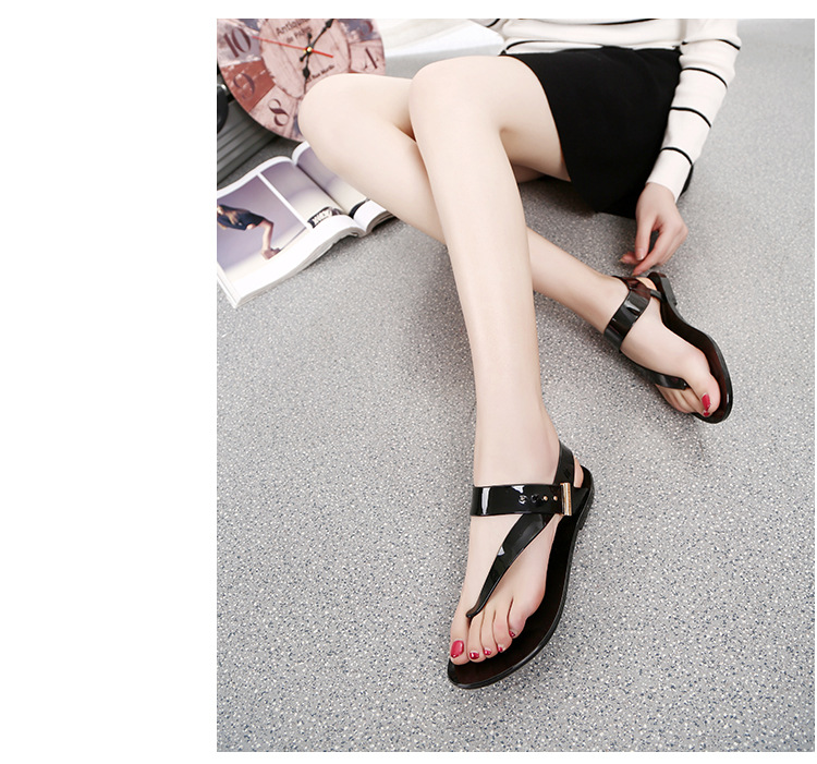 Free Shipping Women Sandals 2016 Summer Bohemia Flat Women Shoes New Fashion Beach Sandals Solid Casual Shoes ST1009 (21)
