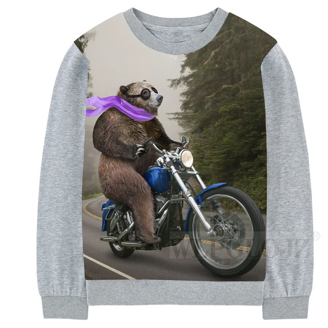 7e383636 US $14.95 12% OFF|Baby Boys Girls bear to ride a motorcycle fun T shirts  Clothes Toddler Kids Children Cartoon Long Sleeve T Shirts Tops 2 10Y-in ...