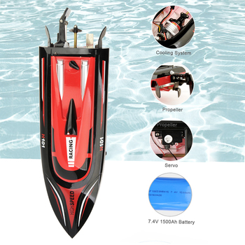 High Speed RC Boat H101 2.4GHz 4 Channel 30km/h Racing Remote Control Boat with LCD Screen For children Toys Xmas Gifts|RC Boats|Toys & Hobbies -