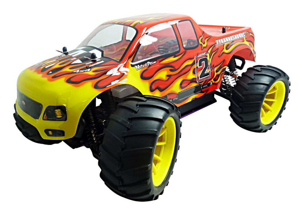HSP 94108  Rc Truck 1/10 Scale 2.4Ghz Nitro Power 4wd Off Road Monster Truck High Speed Hobby Remote Control Car Similar REDCAT hsp 94188 rc car nitro 4wd 1 10th off road monster buggy high speed 1 10 truck p2