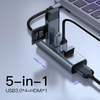 Baseus Multi USB 3.0 Type C HUB USB 3.0 Port for Macbook Air Pro USB C Otg HUB HDMI RJ45 Adapter Splitter Computer PC Accessory