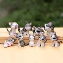 9pcs/set Cheese cat miniature figure toys Model Kids Toys PVC japanese anime children world Fairy Figurines