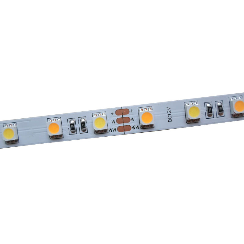 5mX Hight quality color temperature adjustable two color CW + WW 5050SMD LED strip light 60LED/m free shipping