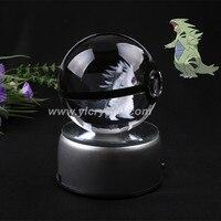 Pokemon Design Tyranitar 3D Engraving Laser For Gift Hot Sale Pokemon Poke Ball