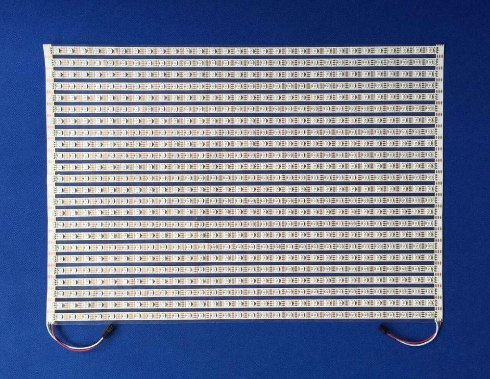 WS2813 addressable 30*20 pixels RGB full color flexible LED Pixel Panel Light;DC5V input 32 8pixels sk6812 rgb addressable led digital flex panel light size 320cm 80cm dc5v input