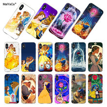 MaiYaCa สำหรับ iphone 7 6 X XR XS MAX Beauty Beast Rose Princess Art CoquePhone สำหรับ iphone 8 6S plus 5 5S SE(China)