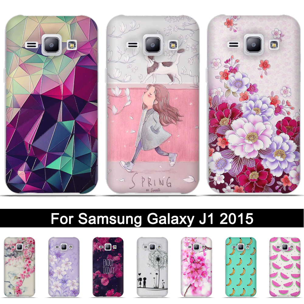 TPU Case For Samsung Galaxy J1 2015 3D Painting Soft Silicone Back Cover For Samsung Galaxy J1 2015 J100 J100F <font><b>J100H</b></font> Shells Bags image