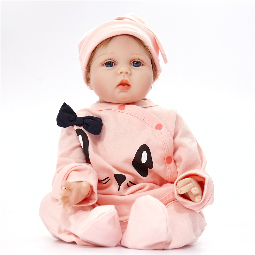 55cm Lovely Newborn Baby Doll Realistic Reborn Doll with Cloth Body for Kids Girl Toy Birthday Christmas Gift [mmmaww] christmas costume clothes for 18 45cm american girl doll santa sets with hat for alexander doll baby girl gift toy