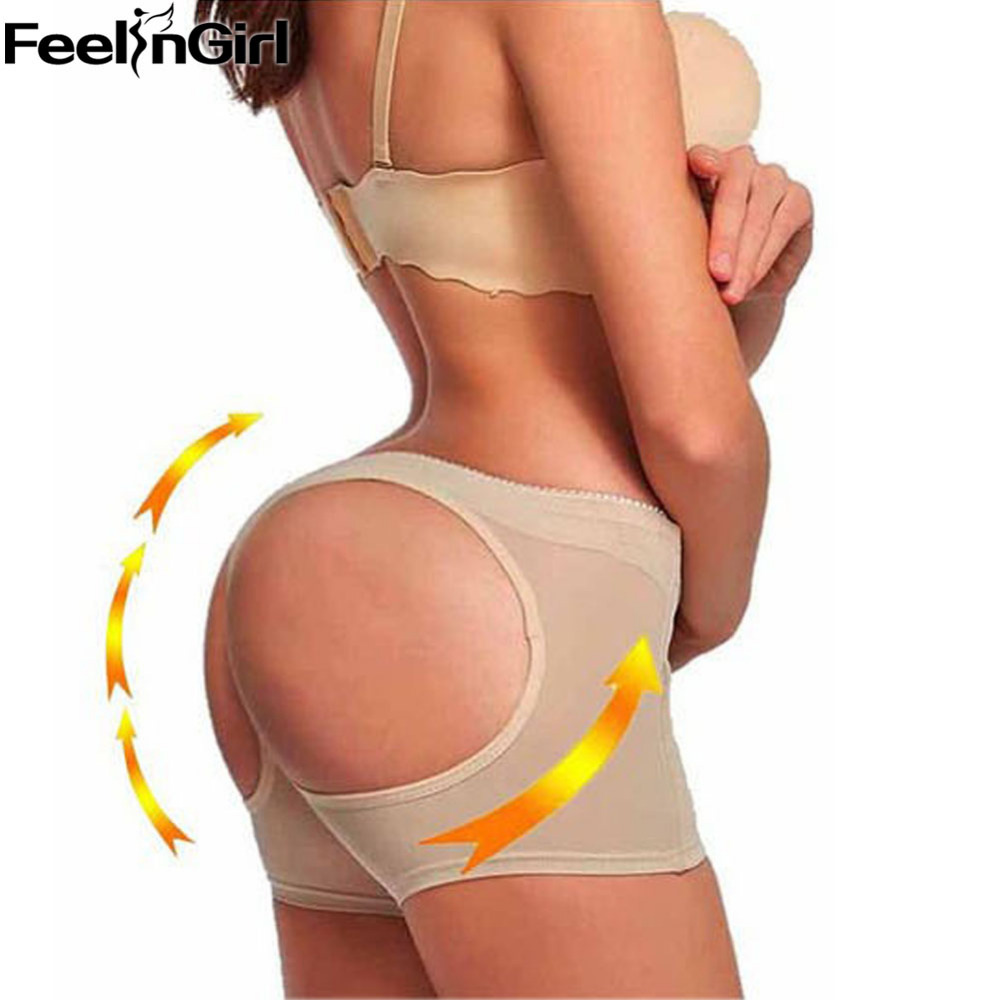 FeelinGirl Womens Butt Lifter Tummy Control Boy Shorts Shaper Bum Lift Pants Buttock Enhancer Booty Control Slimmer Shapewear-A5