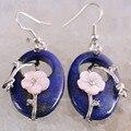 Lapis Lazuli Pedra Natural Light blue Opal Carnelian Aventurina Quartzo Abalone Shell Pérola Oscila Brincos 1 Par