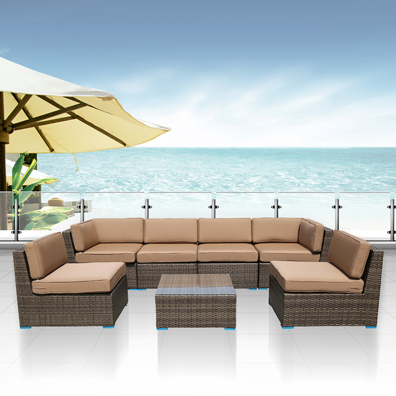 actionclub 7pcsset outdoor furniture sofa sets homegarden water proof rattan wicker sofa set