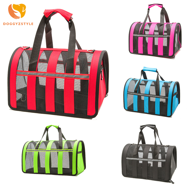 Outdoor Dog bags travel pet nylon stripe breathable cat carrier bag Colorful Handbag S-L Size Easy Carry Pet Bag pet carrier