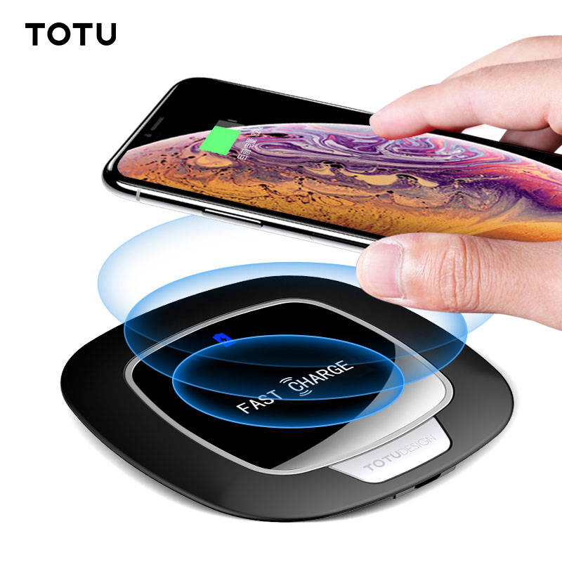 TOTU 10W Qi Wireless Charger For iPhone X Xs Max Xr