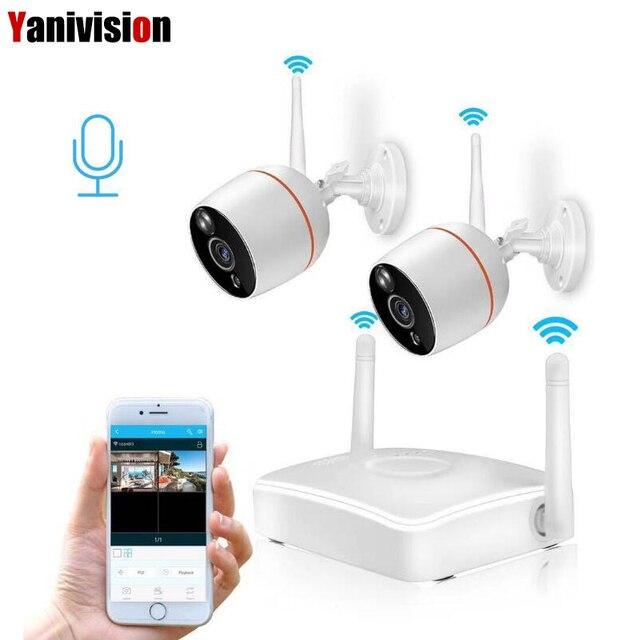 Yanivision H.265 cctv セキュリティカメラシステム hd 1080 1080p wifi ミニ nvr キットビデオ監視ホームワイヤレス ip カメラオーディオ屋外