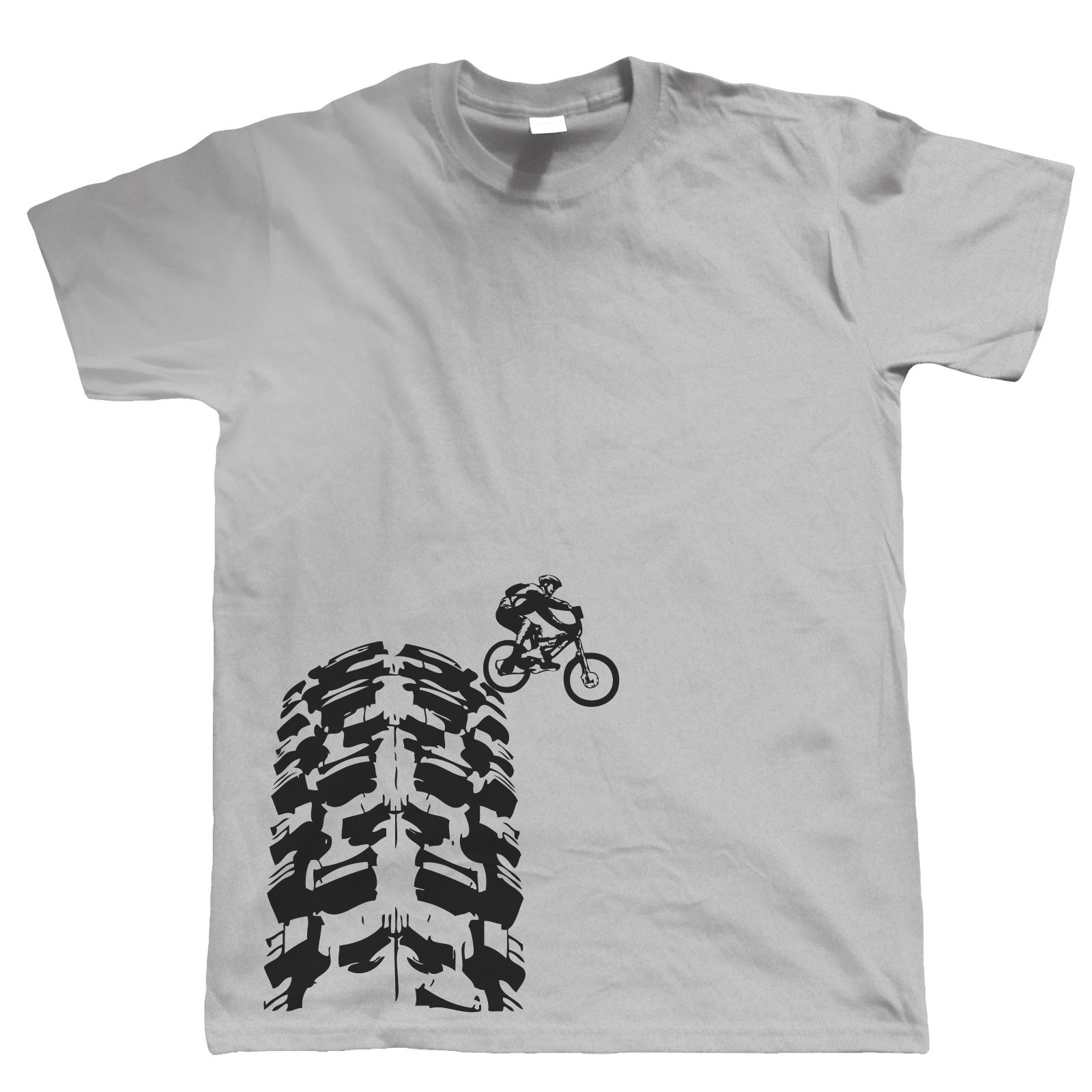 Single Track T-Shirt - DH Mountain Biker  MTB Downhill - Choice Of Colours T Shirt Casual Men Clothing Tops Tees Printed Men
