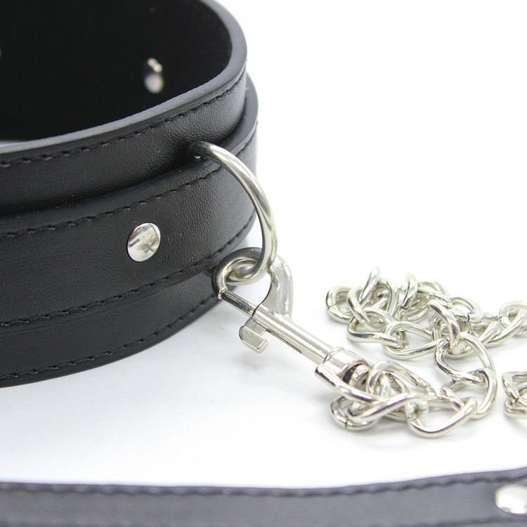 Balck Leather Bdsm Fetish Bondage Sex Collar And Leash Adult Game Collars Sex Toys Slave Collar Erotic Neck Collar VP-CR003037A 8