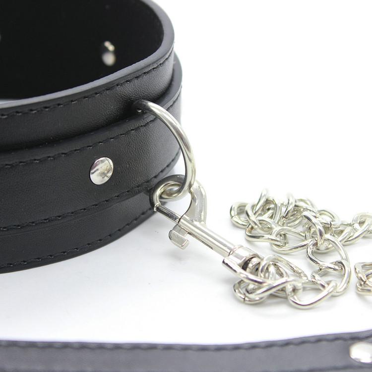 Balck Leather Bdsm Fetish Bondage Sex Collar And Leash Adult Game Collars Sex Toys Slave Collar Erotic Neck Collar VP-CR003037A 8