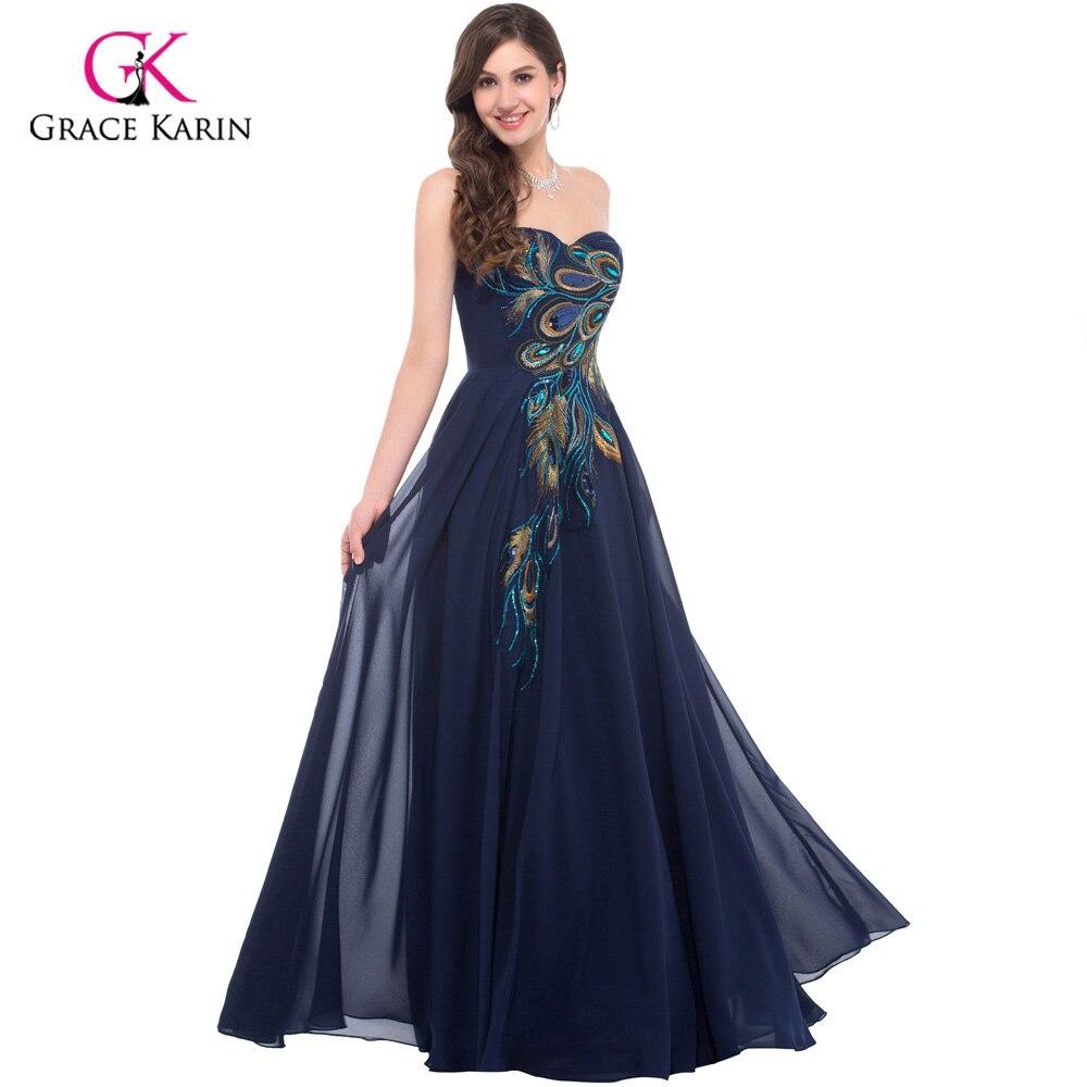Aliexpress.com : Buy Peacock Dress Grace Karin Purple Evening ...