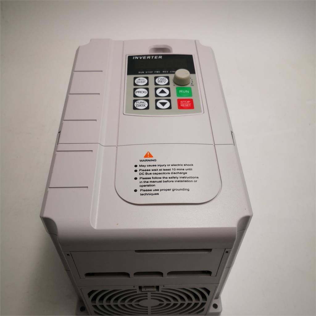 CoolClassic VFD Inverter 4KW 220V in i 380V out jednofazowe 220V domowe wejście elektryczne i prawdziwe trójfazowe wyjście 380V