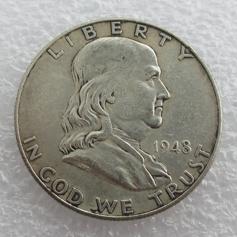 1948 P D Franklin Silver Half Dollar 90% silver or silver plated copy coins High Quality