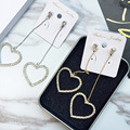 South Korea fashion long exaggerated flashing  fringed earrings female earrings jewelry