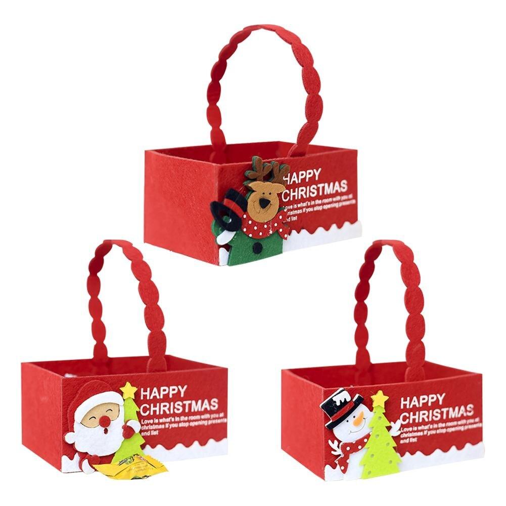 2018 DIY Christmas Decoration Fabric Candy Storage Box Innovative Favors Basket Candy Box Boy Girl Christmas Gift Boxes