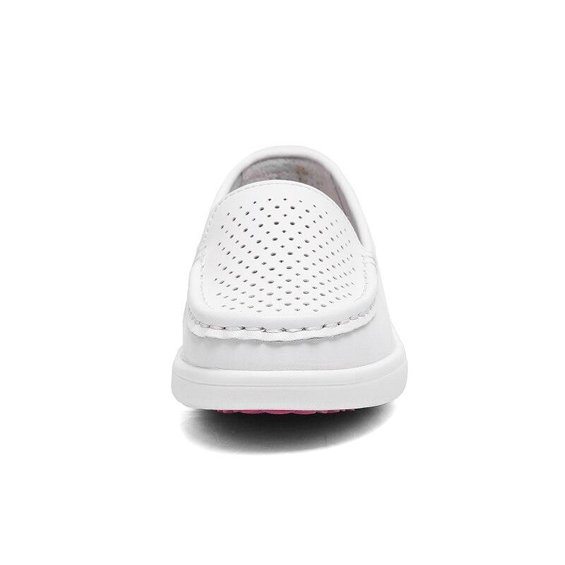 Werkschoenen Verpleging.Aleader Womens Verpleging Schoenen Wit Leather Schoenen Comfortabele