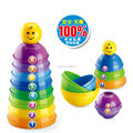 Educational  Baby toys Piles Folding Cups,Multicoloured Stack cup toy set
