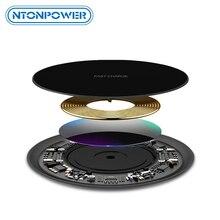 Ntonpower 10 w 빠른 무선 충전기 아이폰 x 8 xs 최대 xr qi 무선 충전기 삼성 s8 s9 플러스 usb 전화 충전기 패드