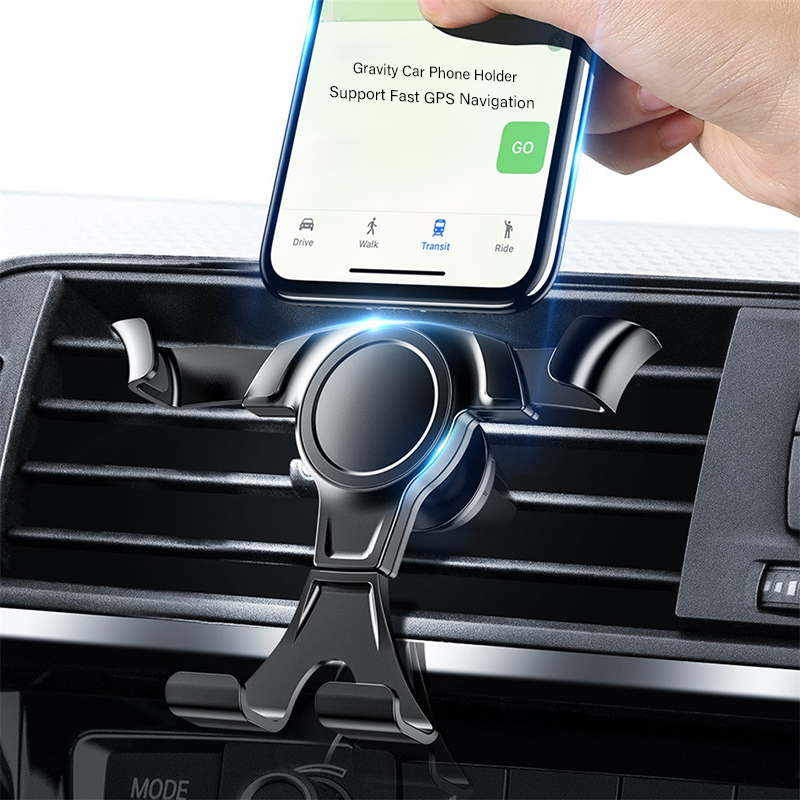 Car Phone Holder Universal Air Vent Mount Clip Auto Holder For Phone In Car No Magnetic Mobile Cellphone Stand Holder Smartphone
