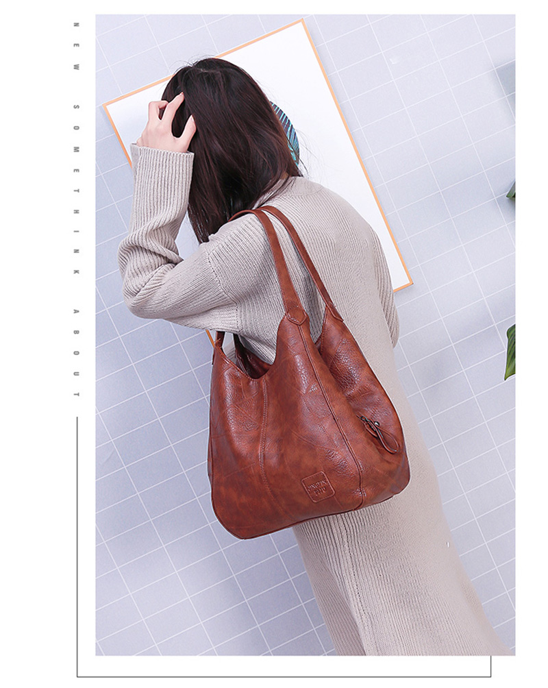 2019 Vintage Women Shoulder Bag Female Causal Totes Bags Large Capacity Luxury Designer High Quality Ladies Handbag Sac Femme 14