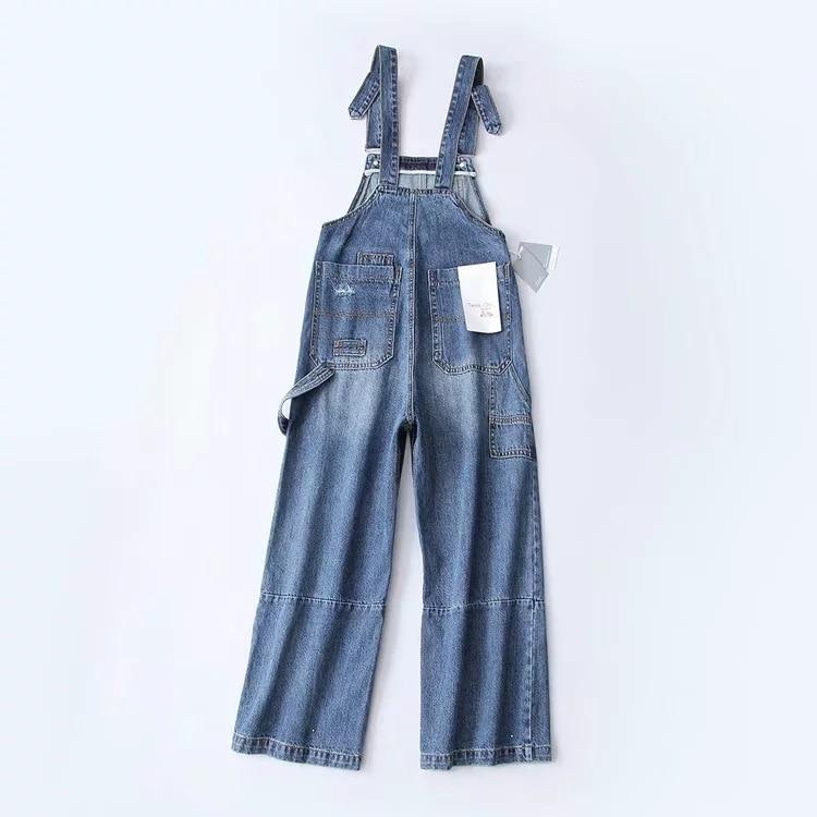 Luz Nueva Alta ewq Longitud De Streetwear Suelto Ac214 Lavado Blue Dark Completa Patchwork Otoño Denim Invierno 2018 Botón Cintura qOwOBz