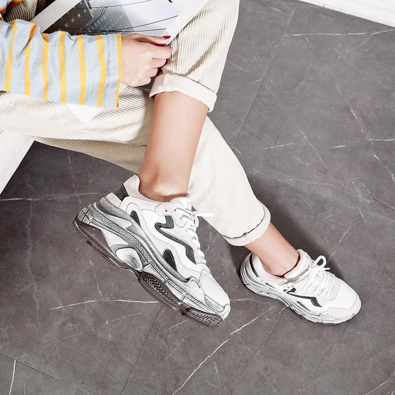 Autunno Ins Del Casuale Vecchio E 2019 1 Vecchie Esplosione Indossato Coreana Versione In Donna Nuove Inverno Scarpe 2 Di Da Donne Cuoio PwTqxZw