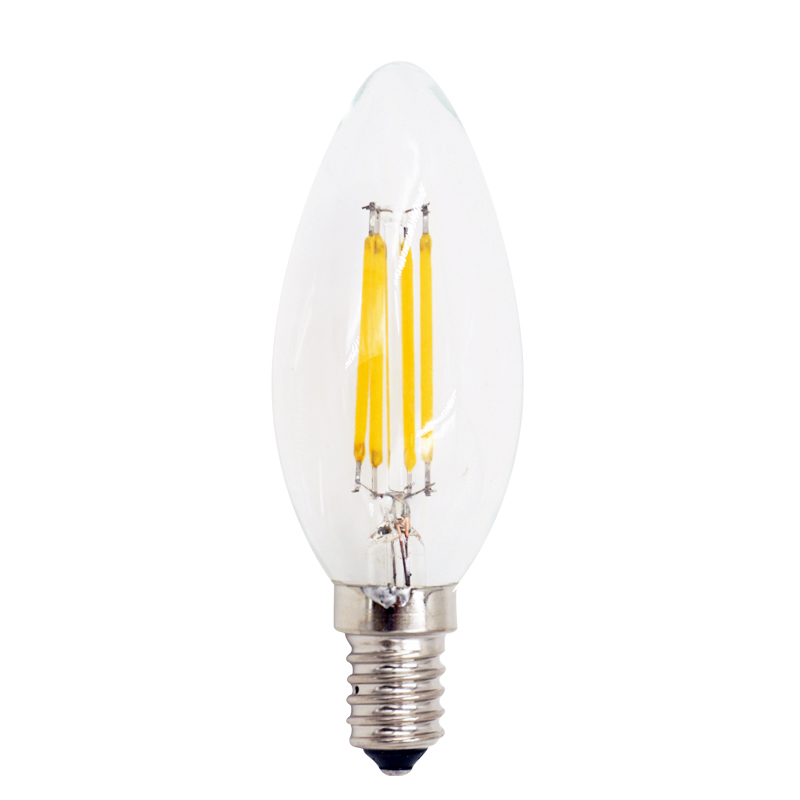 4pcs/lot LED Filament Bulb C35s G45 E14 220-230V For Chandelier Crystal Light Warm White Retro Loft Style Table Light Decoration