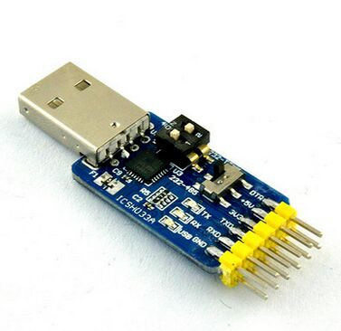NEW USB CP2102 To TTL RS232 USB TTL To RS485 Mutual Convert 6 In 1 Convert Module Good