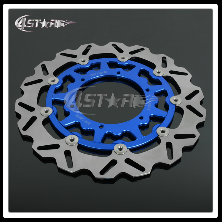 320MM Oversize Front Floating Brake Disc Rotor Adaptor Adapter For YZF WRF YZ250 YZ250F YZ450F WR250R WR250F WR450F Supermoto keoghs motorcycle brake disc brake rotor floating 260mm 82mm diameter cnc for yamaha scooter bws cygnus front disc replace