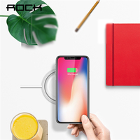 QI Wireless Charger ROCK Fast Charging Pad For IPhone X 10 8 Samsung Note 8 S8