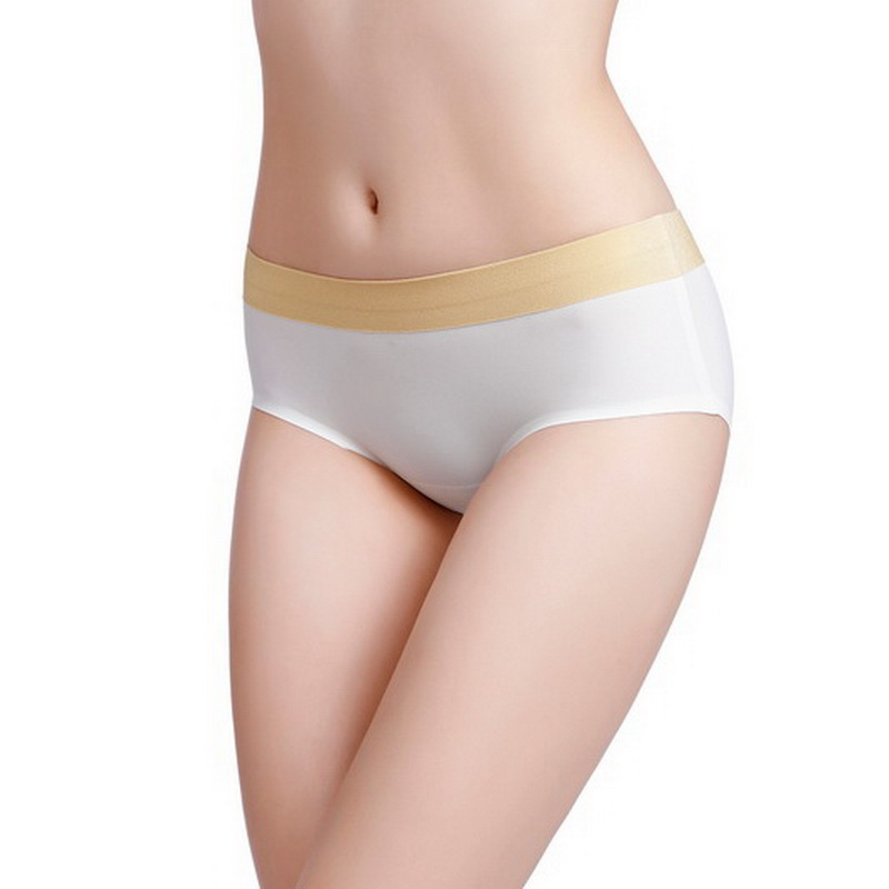 2019 The latest style Women 39 s Panties silky Intimates seamless underwear triangle of female briefs Super big size M 4XL in women 39 s panties from Underwear amp Sleepwears