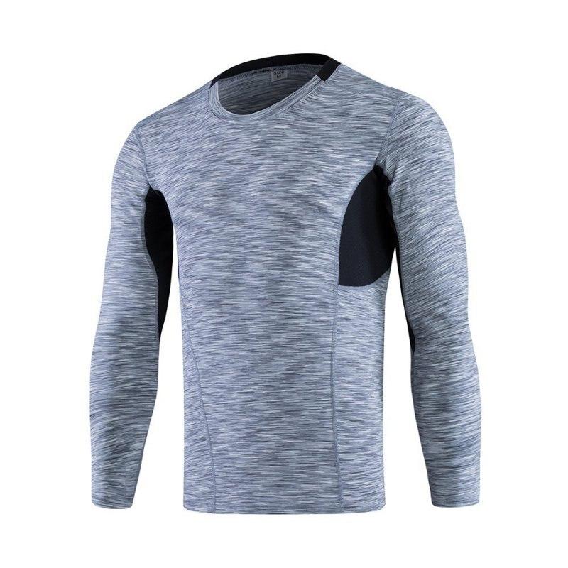 Men's Long Sleeved Sports Fitness Tight Wicking Running T shirt ...
