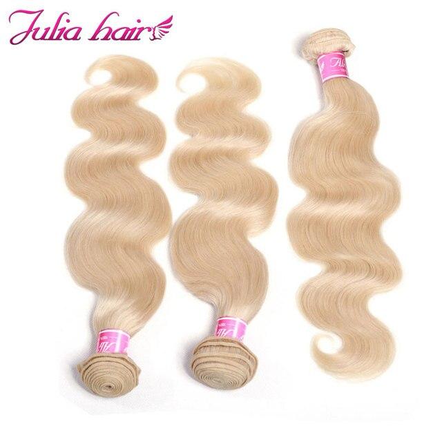 Ali Julia Rambut Brasil Cahaya Rambut Pirang Tubuh Wave 3 Bundel  Kesepakatan Rambut Manusia Menenun   f2061b41bc