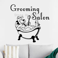 Grooming Salon Vinyl Wall Stickers Pet Shop Window Art Decal Dog Grooming Decor Puppy Pet Shop Decal Animal Interior DesignZW433