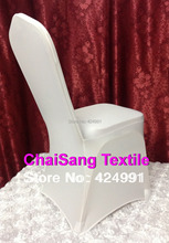 High Quality 100pcs Universal White Spandex Wedding Lycra Chair Covers for Wedding Banquet Hotel Decoration ,Hot Sale Wholesale